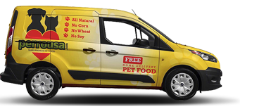 Pet food delivery car
